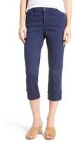 NYDJ Petite Women's Dayla Colored Wide Cuff Capri Jeans