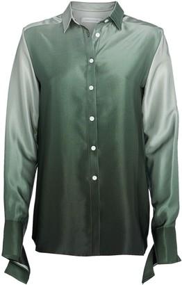CHRISTOPHER ESBER Ombre Silk Button Down Shirt
