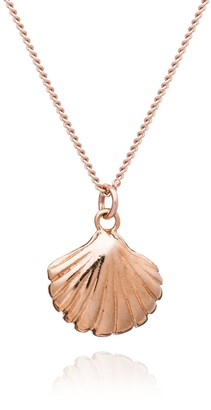 By River Rose Gold Plated Sterling Silver Happy as a Clam Pendant Necklace