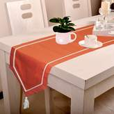 Lushomes Cotton Table Runner Cloth Cover With Contrasting Cord Piping