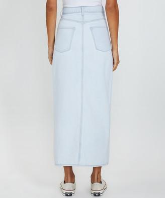 Nobody Avery Denim Skirt Bask Blue