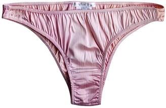 Natalie Begg Brazilian Style Hand-Painted Silk Brief Pink