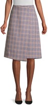 Vemia Faux-Wrap Houndstooth Check Skirt
