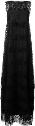 Alberta Ferretti embroidered lace maxi dress