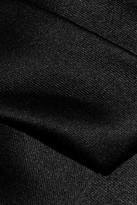 Halston Pleated satin dress
