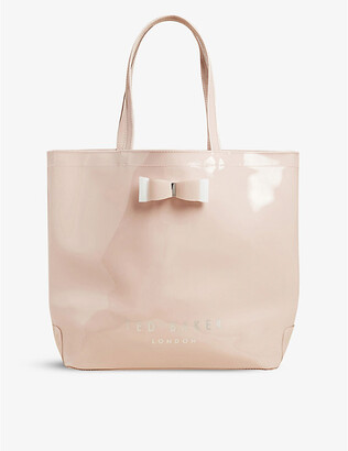 Ted Baker Icon large vinyl tote bag