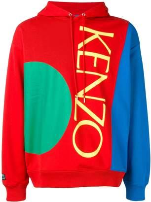 Kenzo contrast panel hoodie