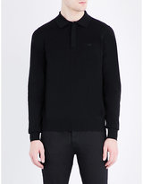 Armani Jeans Logo-print Knitted Polo Jumper