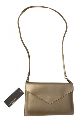Lancaster Gold Leather Clutch bags