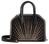 Stella McCartney Mini Falabella Faux Leather Box Satchel - Black