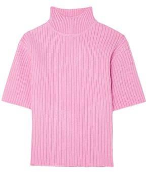 STAUD Claudia Cutout Ribbed-knit Sweater
