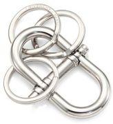 Givenchy Silvertone Brass Key Ring