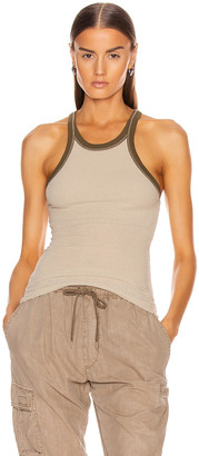 John Elliott Silk Rib Tank Top in Mineral | FWRD