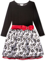 Bonnie Jean Velvet Drop-Waist Holiday Dress, Toddler Girls & Little Girls (2T-6X)
