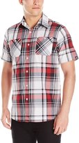 Akademiks Men's Jerry Plaid Button Down Shirt