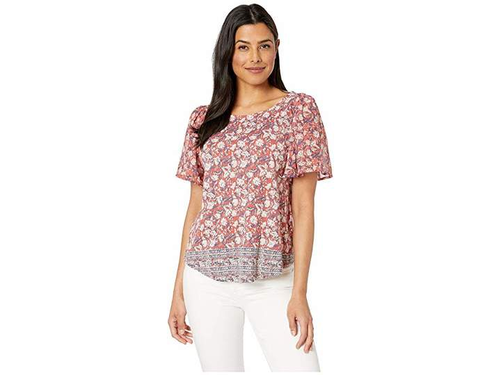 23a70fa0e62557 Woven Mix Top - ShopStyle