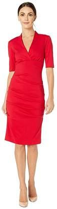 Nicole Miller Joss Ponte Dress (Lipstick Red) Women's Dress