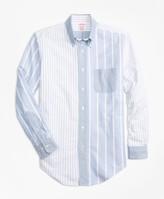Brooks Brothers Madison Fit Oxford Fun Stripe Sport Shirt