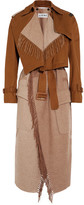 Loewe Convertible Cotton-canvas And Wool And Cashmere-blend Trench Coat - Camel