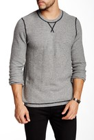 Autumn Cashmere Cashmere Honeycomb Contrast Stitch Sweater