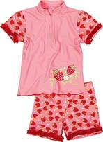 Playshoes Girl's UV Sun Protection 2 Piece Swim Set Strawberries Swimsuit,12-18 Months (Manufacturer Size:86/92 (12-24 Months))