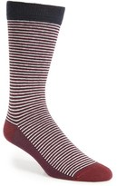 Ted Baker Men's Stripe Organic Cotton Blend Socks