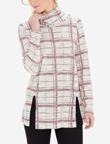The Limited Plaid Cowl Neck Tunic