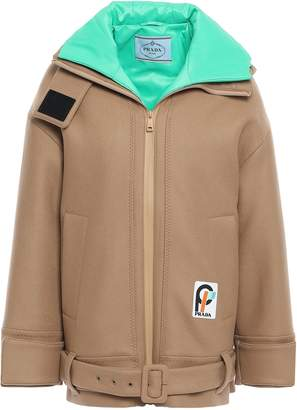 Prada Wool-felt Hooded Coat