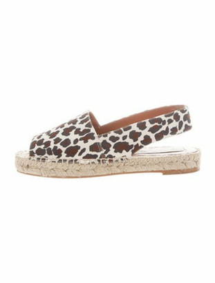 Stella McCartney Chelsea Animal Print Espadrilles w/ Tags White