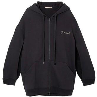 Oversized zippered hoodie