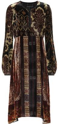 Etro Printed velvet dress