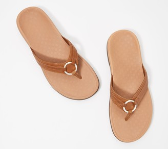 Vionic Thong Sandals w/ Ring Detail - Aloe