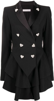 Silvia Astore Double Breasted Pleated Blazer