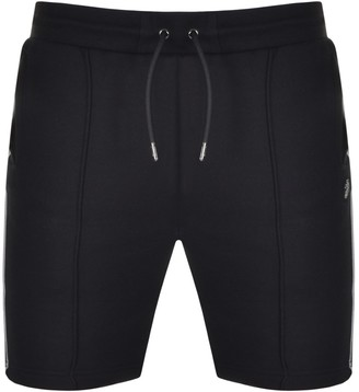Luke 1977 Jim Tata Pipe Detail Sweat Shorts Black