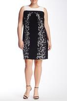 Vince Camuto Trellis Shift Dress (Plus Size)