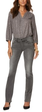 NYDJ Printed Tummy-Control Marilyn Slim-Fit Jeans