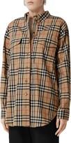 Burberry Turnstone Oversize Vintage Check Stretch Cotton Shirt