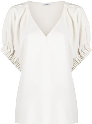 P.A.R.O.S.H. V-neck short-sleeved blouse