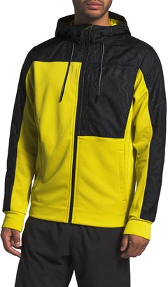 The North Face Colorblock Print Fleece Hoodie Jacket