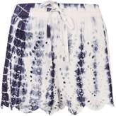 Topshop Tie Dye Cutwork Broderie Shorts