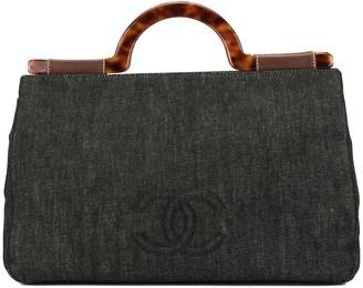 Chanel Pre Owned CC logo denim tote