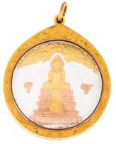 14K Buddha Pendant