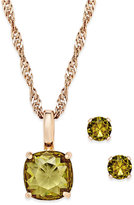 Charter Club Gold-Tone Crystal Pendant Necklace and Stud Earrings Set, Only at Macy's