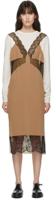 pushBUTTON SSENSE Exclusive Off-White and Beige Knit Dress