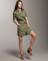 Theory Short-Sleeve Shirtdress with Belt