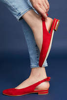 Anthropologie Bow-Tied Slingback Flats