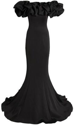 Jovani Ruffled Column Gown