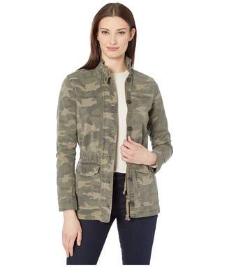 Lucky Brand Women's Long Sleeve Button Up Two Pocket Camo Utility Jacket