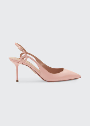 Aquazzura Serpentine 75mm Napa Slingback Pumps