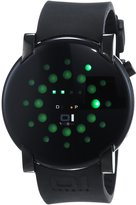 01 The One 01TheOne Men's GRR213G3 Gamma Ray Round Green LED Gun-Metal Watch